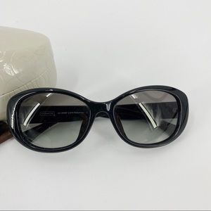 Coach black frame sunglasses with case